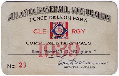 Holy Cow – Baseball Clergy Passes