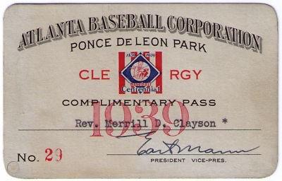 Holy Cow – Baseball Clergy Passes