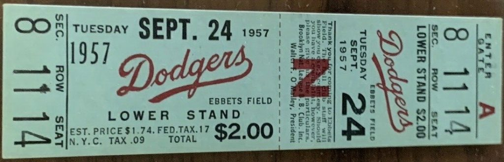1957 Brooklyn Dodgers Final Game at Ebbets Field