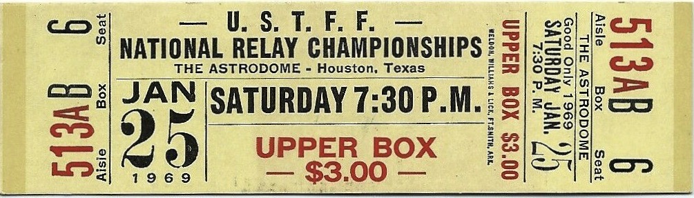 1969 National Relay Championship Track and Field Astrodome