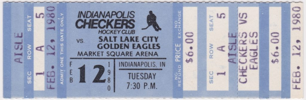 1980 Indianapolis Checkers ticket vs Salt Lake City for sale