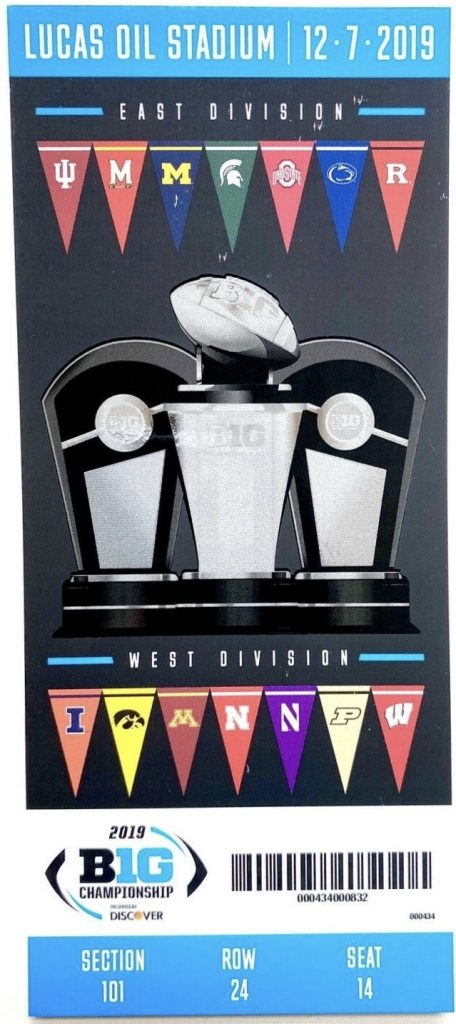 2019 Big Ten Championship Game ticket Ohio State Wisconsin