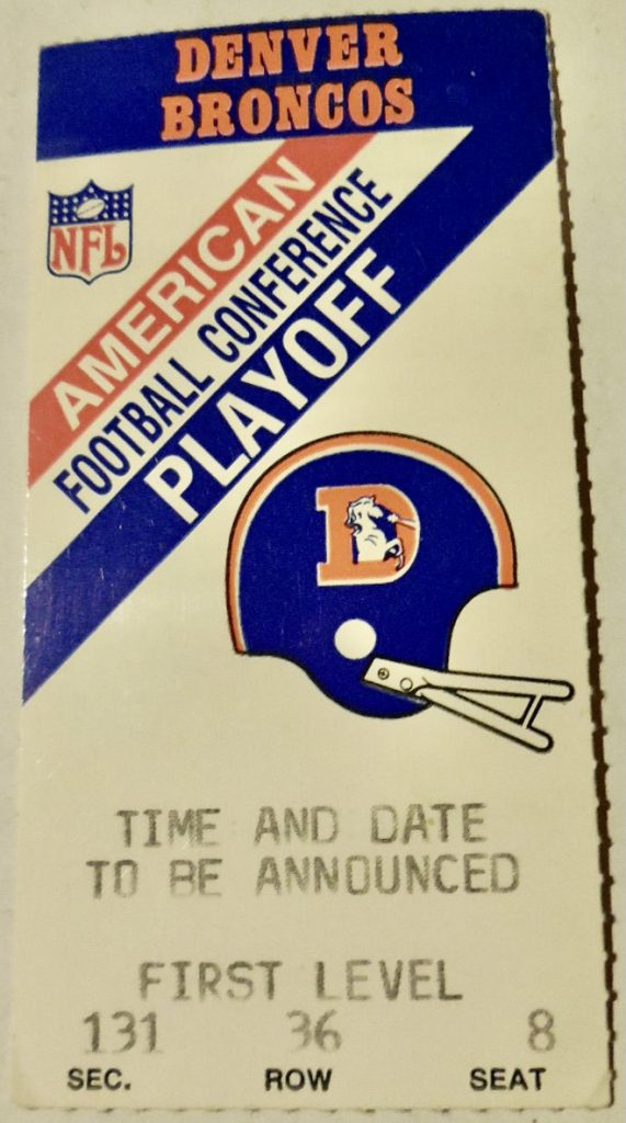 1988 AFC Divisional Game ticket stub Oilers Broncos