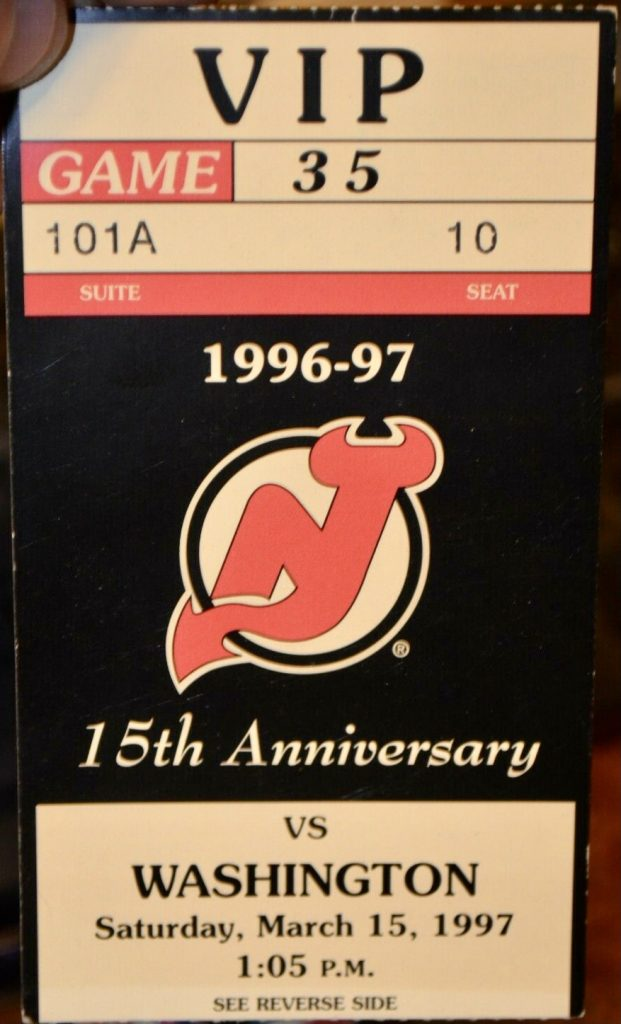 1997 Dave Andreychuk 500th Goal Ticket