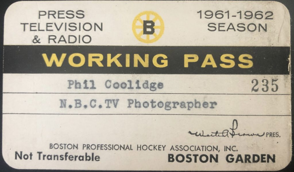 1961 Boston Bruins Press Pass