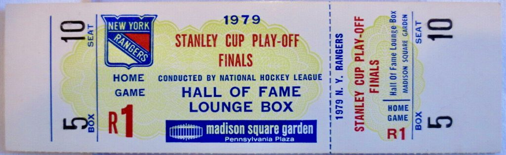 1979 Stanley Cup Final Game 3 unused ticket vs Canadiens